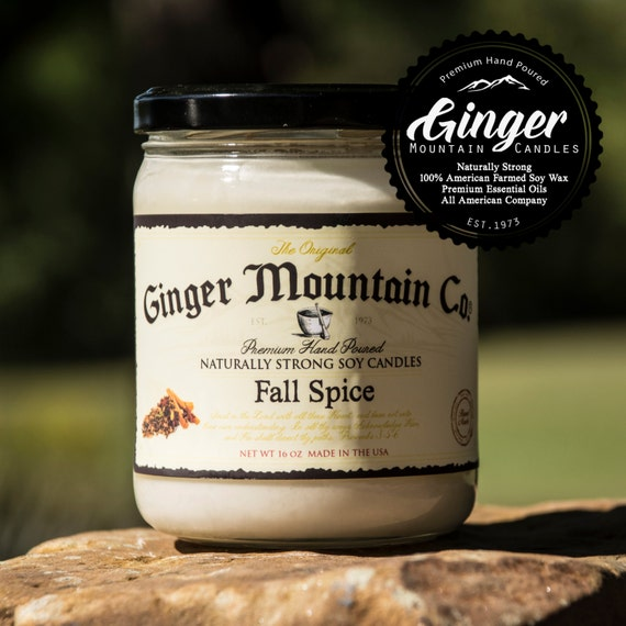 """Fall Spice """"Free Shipping"""" Scented Candle 16 Ounce Large  """"Strong Highly Scented"""" Double Wicked, Soy, Super Strong, Best Scented candle"""