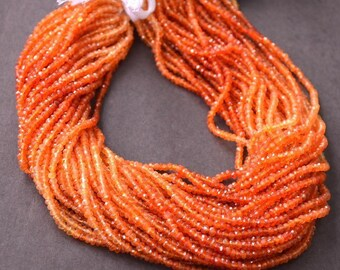 "Carnelian Faceted Beads 13"" Strand Top quality 3mm - 4mm Faceted Rondelle Gemstone Beads Natural Gemstone Faceted Carnelian Beads"