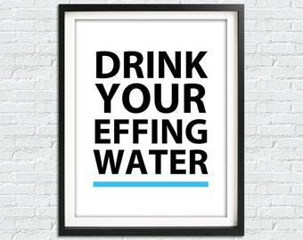 bevi la tua acqua stampa arredamento cucina oggettistica per la casa stampa arte