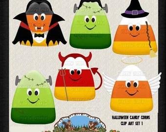 Candy Corn Clip Art - Halloween Clip Art - Commercial Use Clip Art - Halloween Scrapbooking clip Art - Instant Download