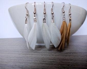 Earrings feather, yoga earrings
