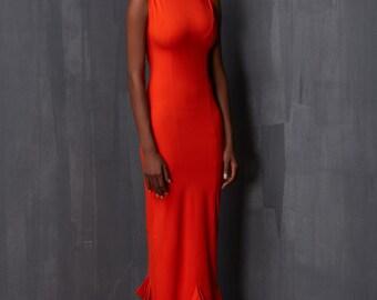Long Dress with Cutout