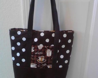 Reversible Coffee Lover's Tote