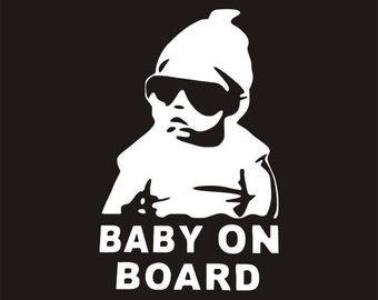 Baby On Board car sticker - durable Vinyl Decal for Car Window - Baby Gift - Baby Shower Gift - Baby in Car - Carlos Sticker - Baby Sticker