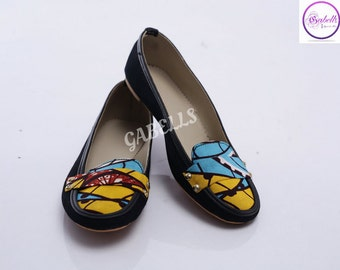 Denim/Ankara flat shoe