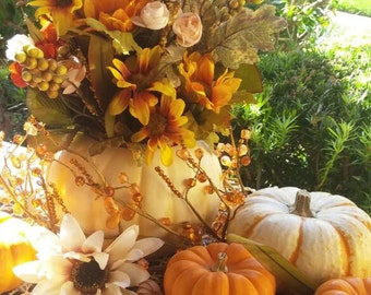 Pumpkin Flower Decor