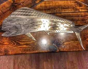 Mahi Mahi metal art