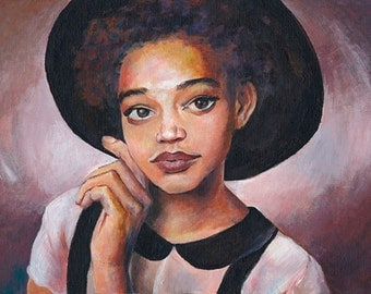 Young Girl Rocking Black and White