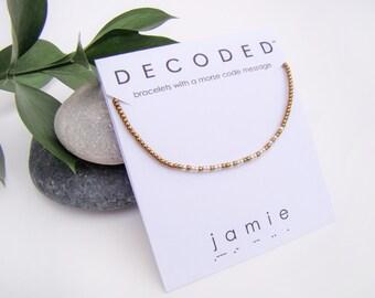 JAMIE - Morse Code Bracelet - Outlander Jewelry - Morse Code Jewelry - Outlander Bracelet