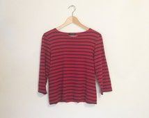 VTG SAINT JAMES Striped Breton Shirt// Flawless Classic French Sailors Shirt// Ladies S