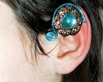 SALE: last one left blue crystal arwen elven ear cuff