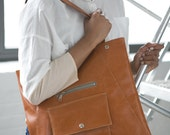 Butterscotch Portfolio Tote - vegan laptop bag