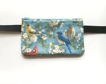 Midwestern Birds/ Salvaged Vintage Fabric- Fanny Pack/Bike Bag/Hip Bag/ Hip Belt/ Utility Belt