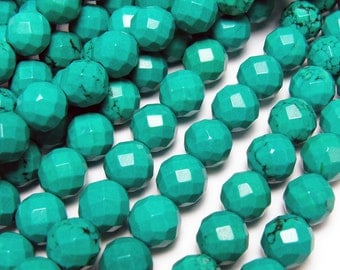 Chinese Turquoise Faceted Gemstone Beads