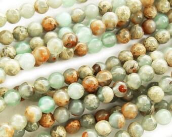 Snake Skin Jasper Round Gemstone Beads