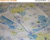 HALF OFF Up Cycled Reclaimed Linen Reversable 13 Inch Napkins, Napkins, Recycled fabric, Vintage Fabric, Hand Made