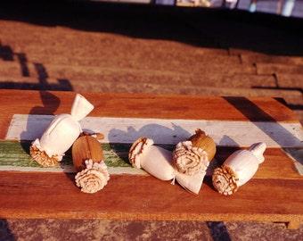 40 Opium Poppy Sola Wood Diffuser Flowers 2.5x4 cm