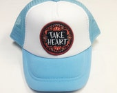 """Toddler/Kids Trucker Hat- light blue with """"Take He..."""