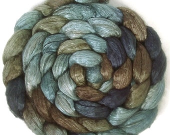 Handpainted Yak Silk Roving - 4 oz. TRIBE - Spinning Fiber