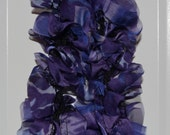 Gorgeous Ruffle Scarf in Shades of Purple