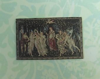 Dollhouse Miniature Boticelli Primavera Art Print Wall Panel