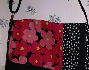 Daisies and Dots Messenger Bag