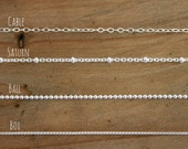 Sterling Silver Necklace Chain. Choose your chain.
