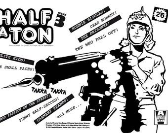 Fanzine/Zine/Half A Ton Zine 3/Comics/Cartoons/Mod/The Prisoner/Music Zine/The Who/POPArt/Pop/1960s/DIY/Punk/Scottish Zine/British/UK/Art