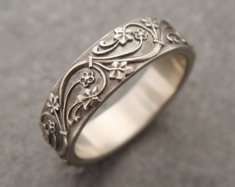Silver Wedding Band Set Wedding Rings Silver Wedding Ring Mens