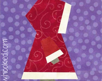 Lil' Mrs. Claus, paper pieced