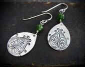 burgeoning ... Russian emerald earrings