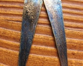 Gold Washed Indigo Brass Spear Charms - 1 pair