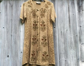 Vintage Bohemian Dress/Bohemian Dress/Festival Dress/Embroidrered Dress
