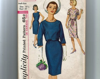 Simplicity Misses' One-Piece Dress and Jacket in Half Sizes Pattern 5319
