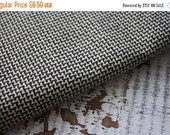 30%OFF SUPER SALE- Black and Tan Fabric -Reclaimed Bed Linen Fabric-Minimalist