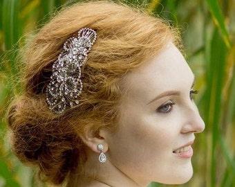 Art Deco Style Wedding Hair Comb, Christina