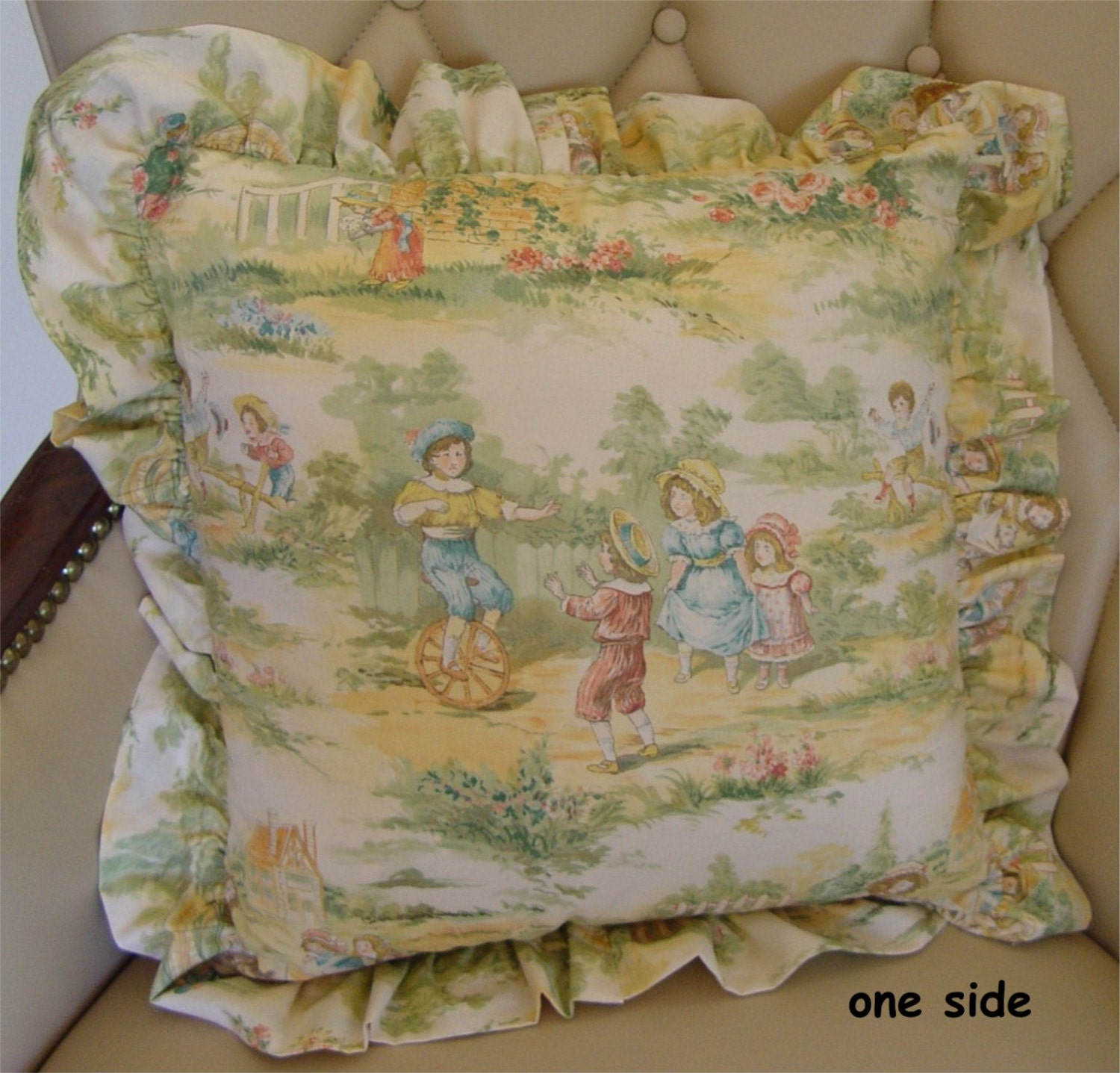 decorative throw pillow toile music children little boys. Black Bedroom Furniture Sets. Home Design Ideas