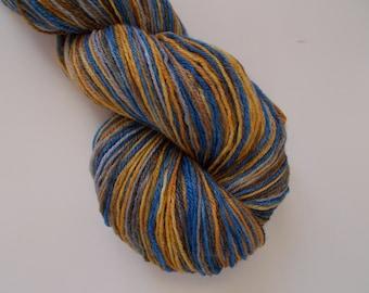 Self Striping handpainted sock yarn Sunset 4 oz