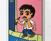Loteria El Boracho Print