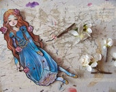 Jointed Articulated Paper Dolls - Folk Art - Paper Goods - Hand-painted - FairyTale - The Sleeping Beauty