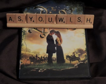 AS YOU WISH scrabble letters sign Recycled