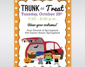 Trunk or Treat PRINTABLE Invitation Digital Printable Halloween Party Invitation