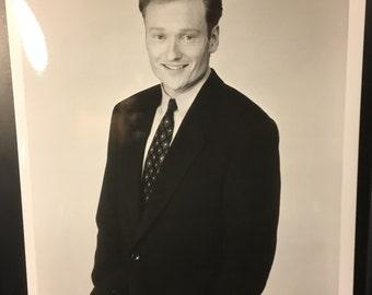 Professional Quality Conan O'Brien 8x10 black & white