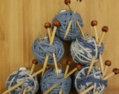 Six Extra Miniature Yarn Ball Ornaments