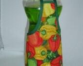 Pepper Garden Dish Soap Bottle Apron Cover Kitchen Decor Staffer Fun Lg