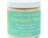 Pineapple Mint Whipped Soap Sugar Scrub - Vegan and Cruelty Free