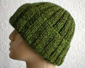 Men's watch cap, brimmed beanie, green tweed, women's hat, toque, slouchy beanie, mariner's hat, biker cap, ski snowboard hat, green hat