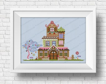 Gingerbread House - PDF cross stitch pattern