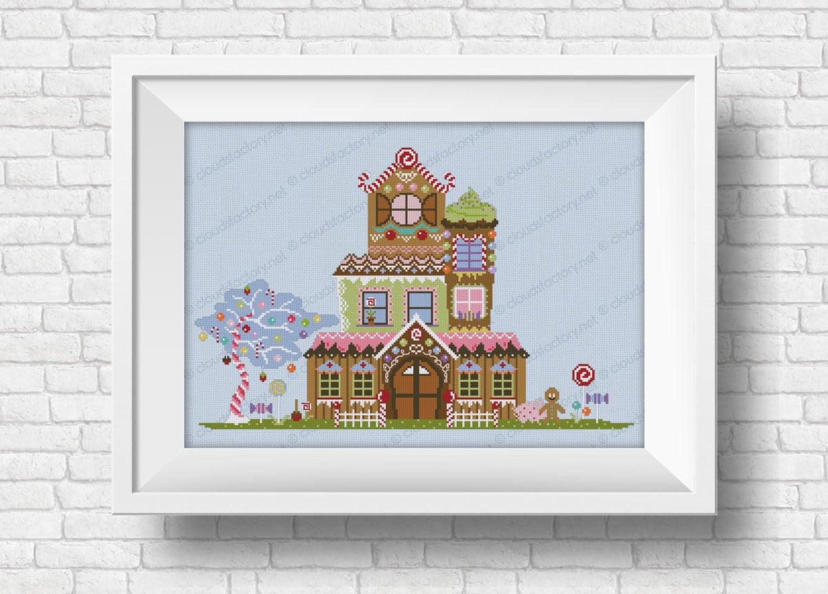 Gingerbread House PDF Cross Stitch Pattern