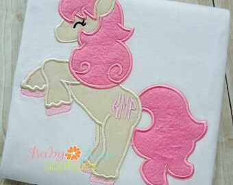 Standing Pony Applique Design 4x4, 5x7, 6x10, 8x8